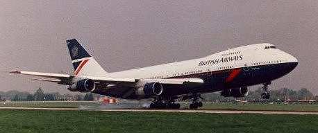 A 747 airliner, circa 1993.