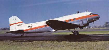A DC3 airliner, circa 1956.