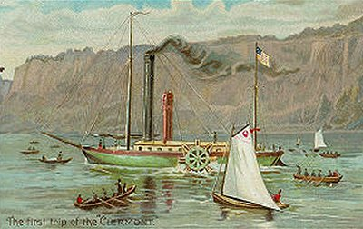 the early life of robert fulton and his steamboat invention The story of robert fulton inventing the steamboat and sailing the clermont down  of the history of invention, fitch didn't have the money to turn a profit on his.