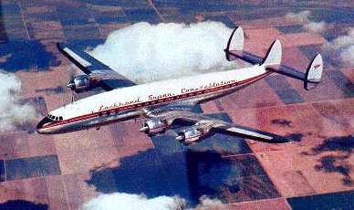 A SuperConstellation airliner, circa 1962.