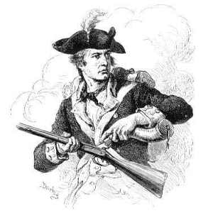 A soldier priming his musket.